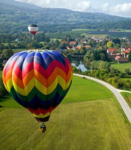 Balloon safari over the Cotswolds