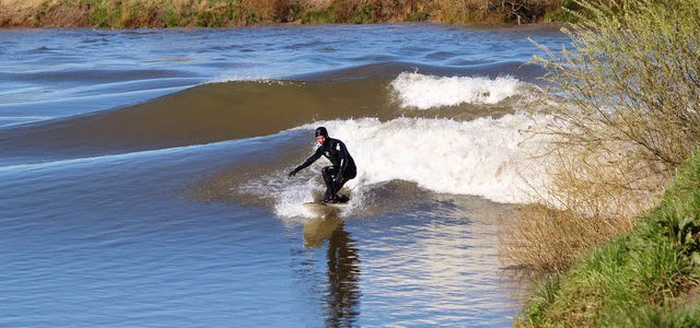 Surfing down a River